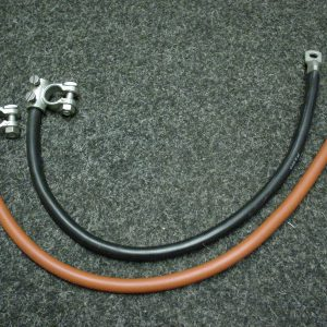 Heavy duty battery cable link leads with battery clamps